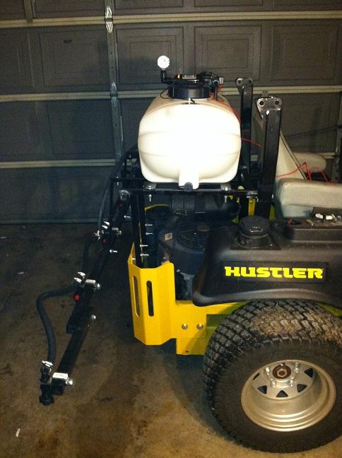 Hustler Boom Sprayer With 15 Gallon Fimco Lawnsite