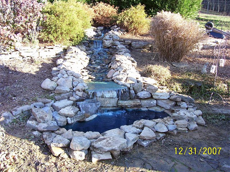 Pond liner floats up after heavy rain lawnsite for Waterfall pond liners
