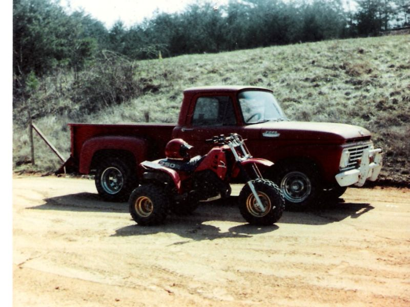 1963 Ford F100 and 1985 Honda ATC250R-Mount Airy NC resized.jpg