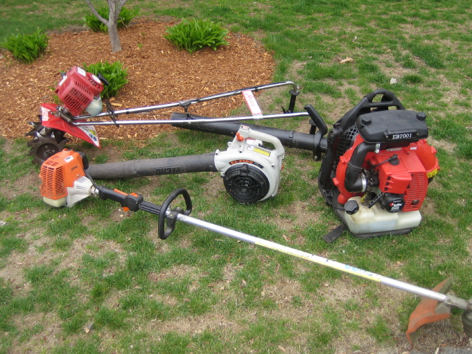 blowers, trimmer, and tiller two.JPG