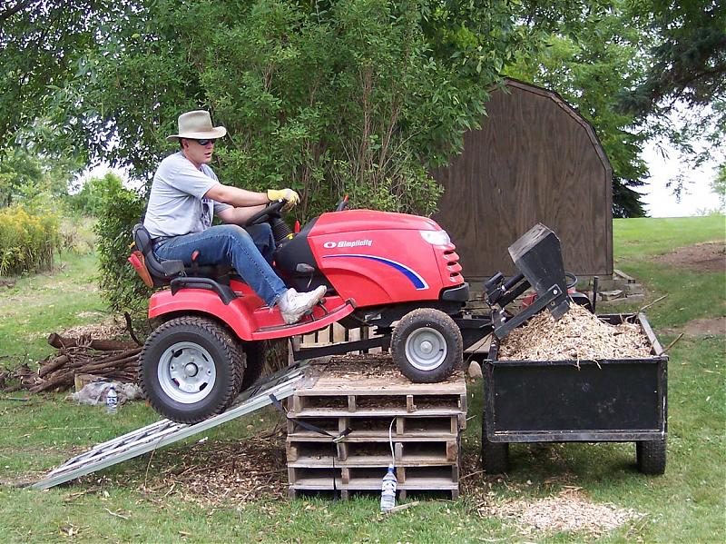 Front End Loader For A Ztr Lawnsite Com Lawn Care Landscaping Professionals Forum