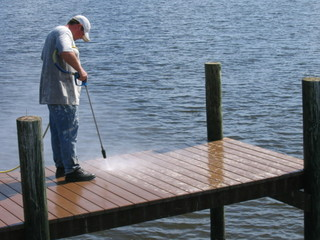 Cleaning the end of a 200' dock.jpg