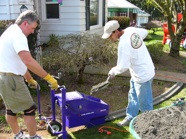 Curb Appeal Usa Curb Machine In Action Lawnsite