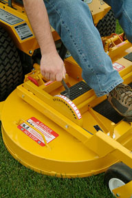 Walker Deck Height Adjuster kit | LawnSite