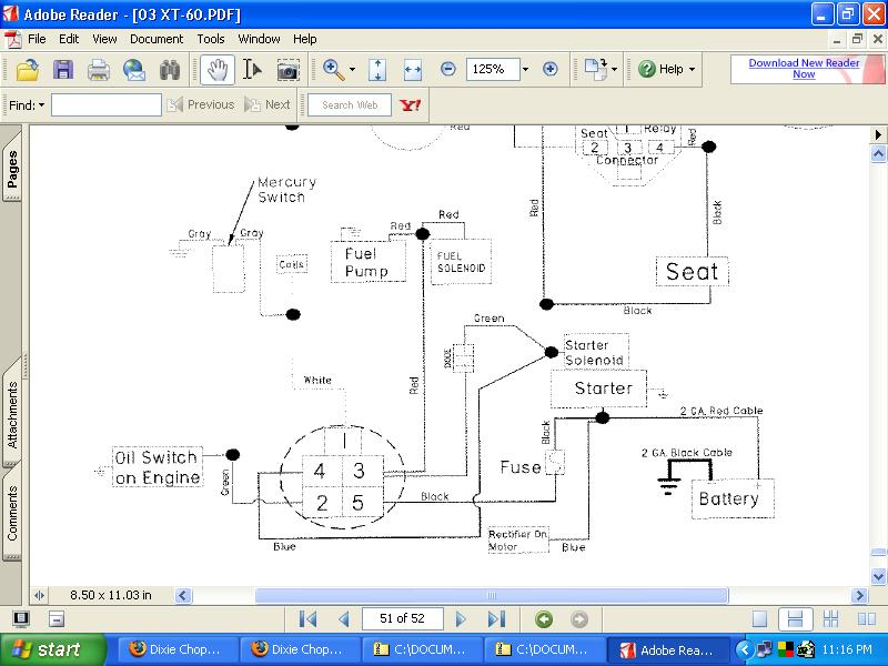 dixie chopper starter diode? lawnsite dixie chopper wiring diagram at crackthecode.co