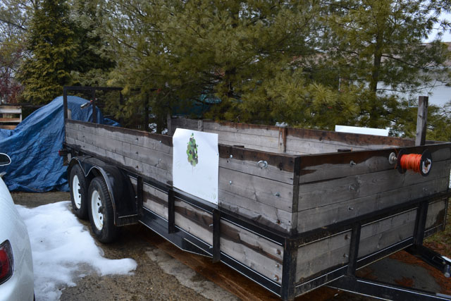 16x6 Tandem Axle Landscape Trailer With Wooden Sides Near