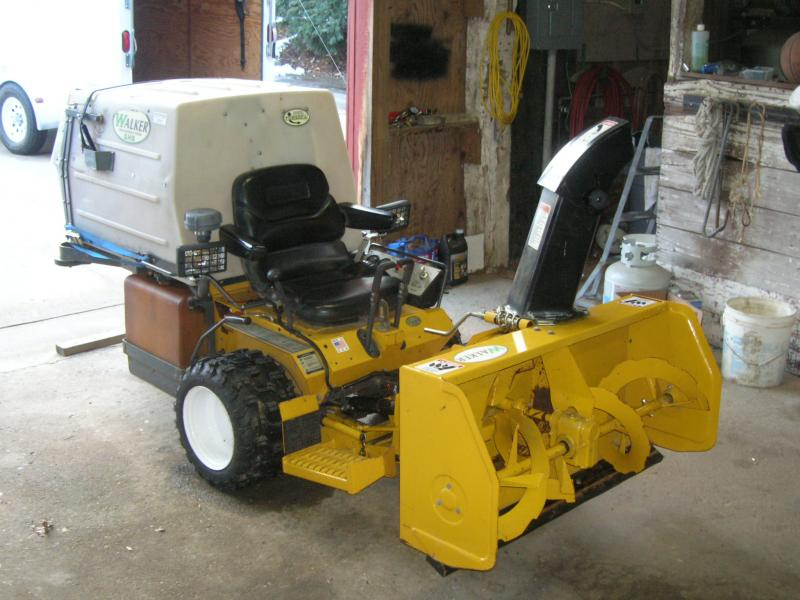 Walker Mowers kick butt in the SNOW? Come on! | LawnSite