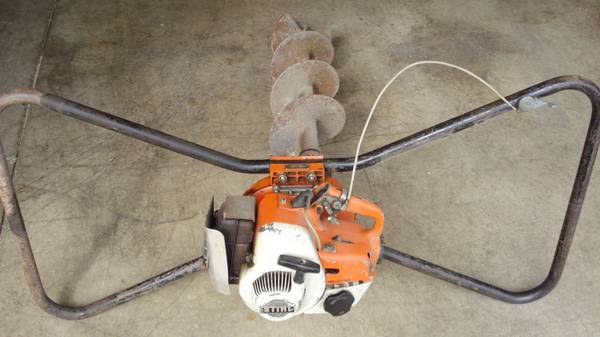 Stihl Post Hole Digger Earth Auger Lawnsite