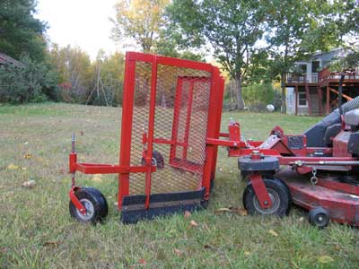 Homemade Leaf Plow Custom Built For The Ferris Thank You