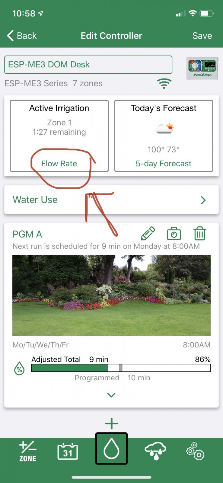 Flow Rate button in app.jpg