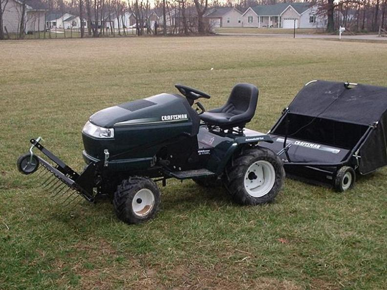 Pull A Sweeper Behind A Dethatcher Mytractorforum Com