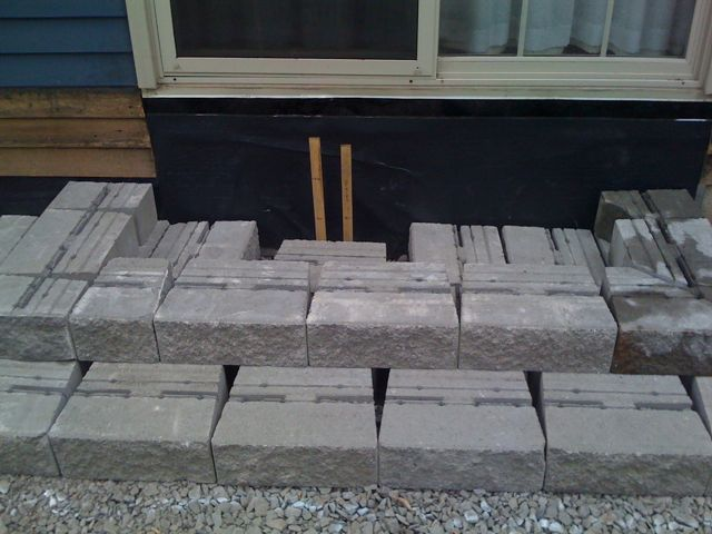 Proper Procedure For Pavers Next To Siding Lawnsite