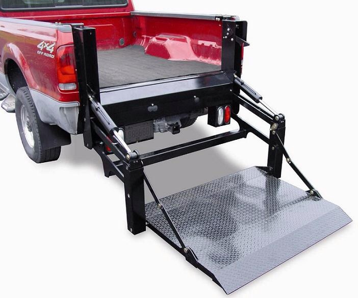 Tractor Lift Gate : Loading a or inch walk behind into pick up bed
