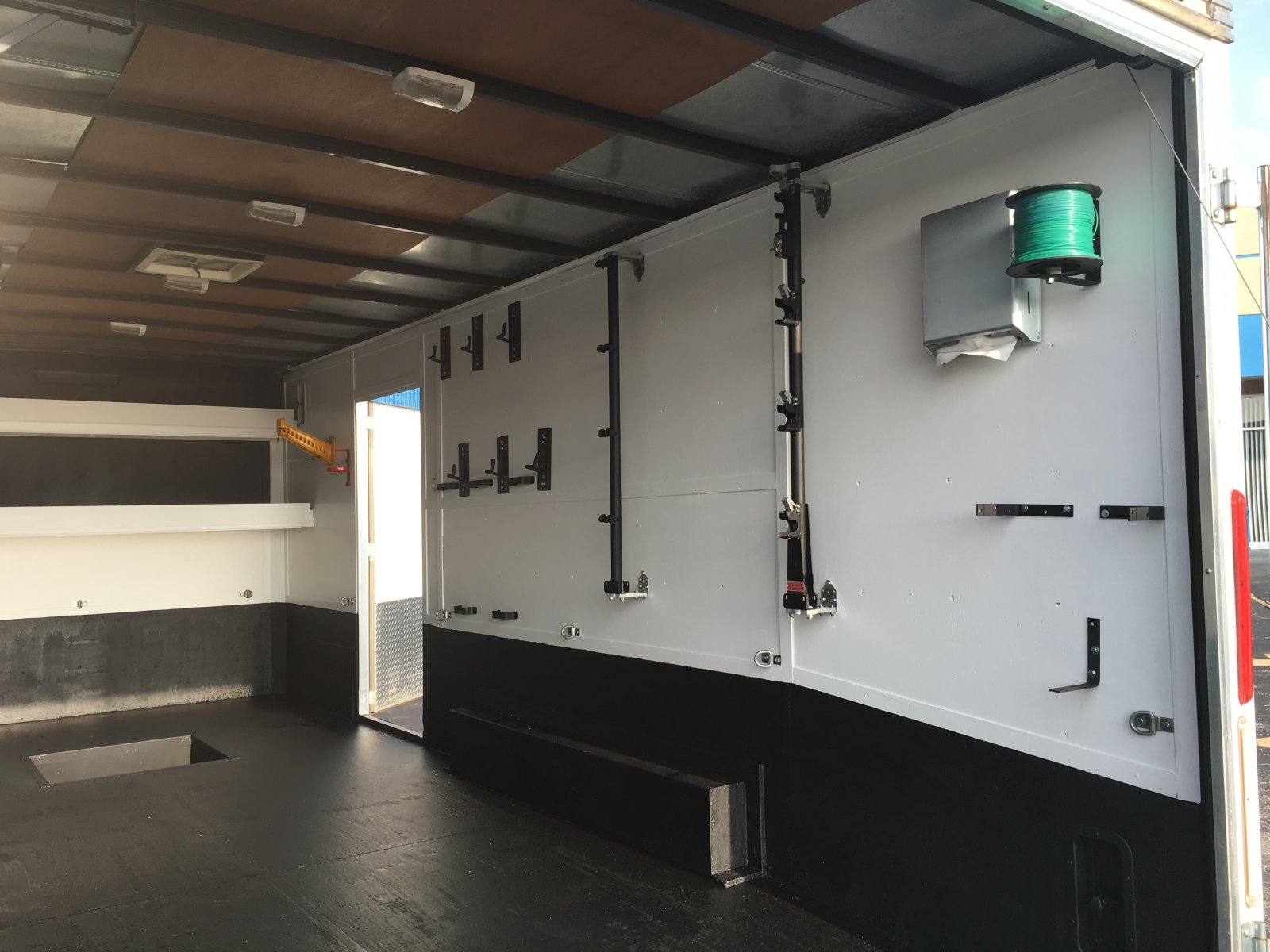 How Do You Attach Racks To The Walls Of An Enclosed Trailer