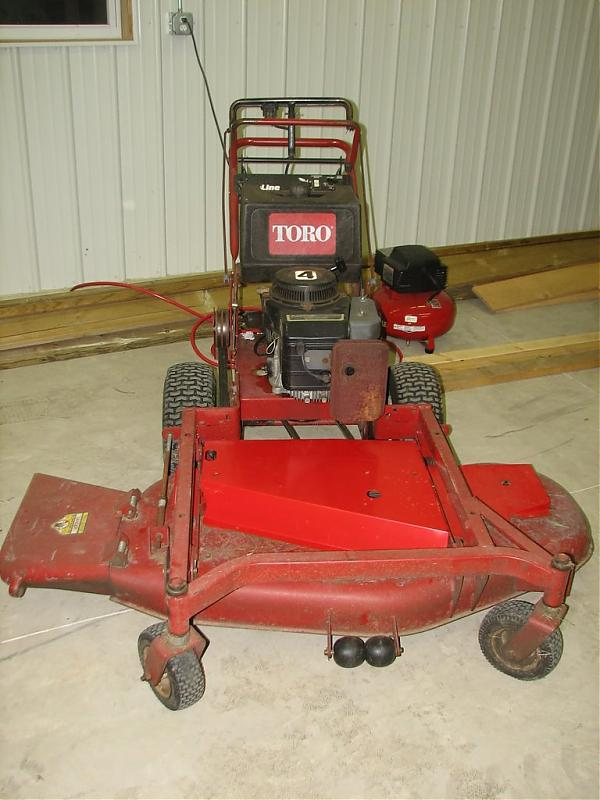 Toro Finish Mower : Quot toro walk behind or trade for larger