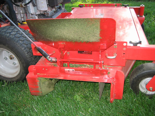 Chute blocker with holes, or without? | LawnSite