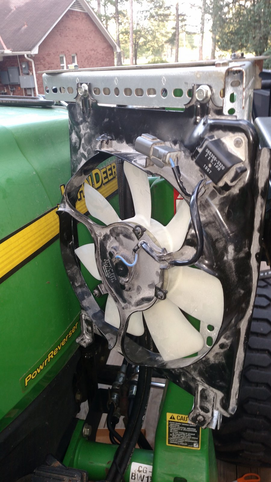 Added A Driver Cooling Fan On My Tractor Lawnsite Com Lawn Care Landscaping Professionals Forum