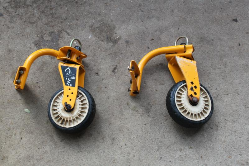 Front Caster Wheels Off Cub Cadet May Fit Others With Some Modifcations Asking 30 00 For Both Let Me Know Where To Ship