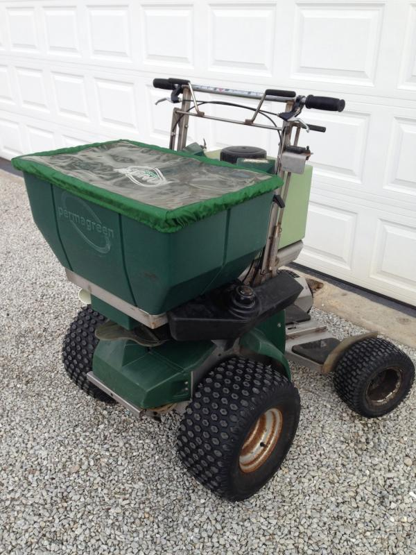 tractor with plow permagreen magnum spreader sprayer only 293 hrs lawnsite 2889