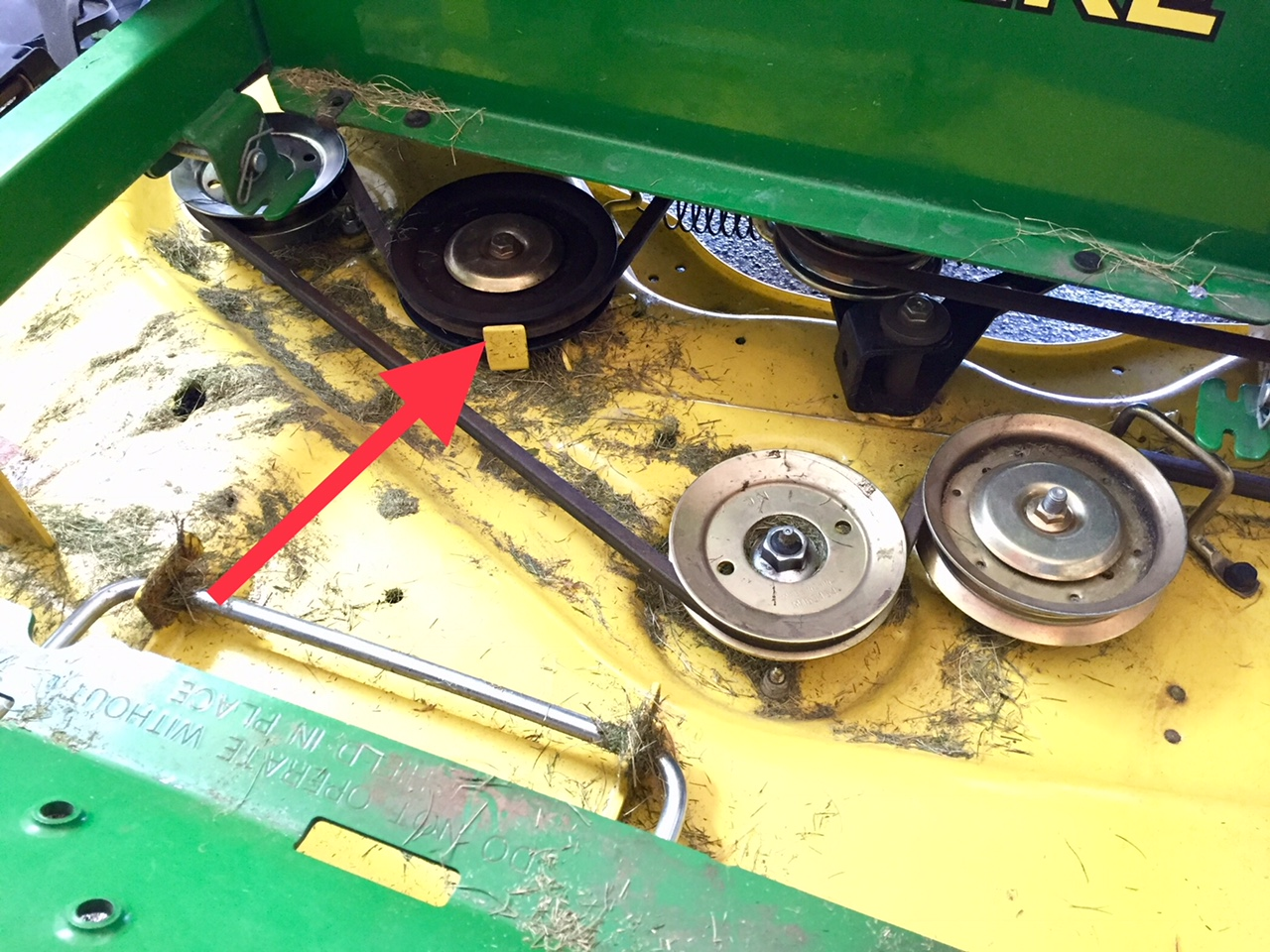 Do I grease bushing sleeve when replacing stationary pulley