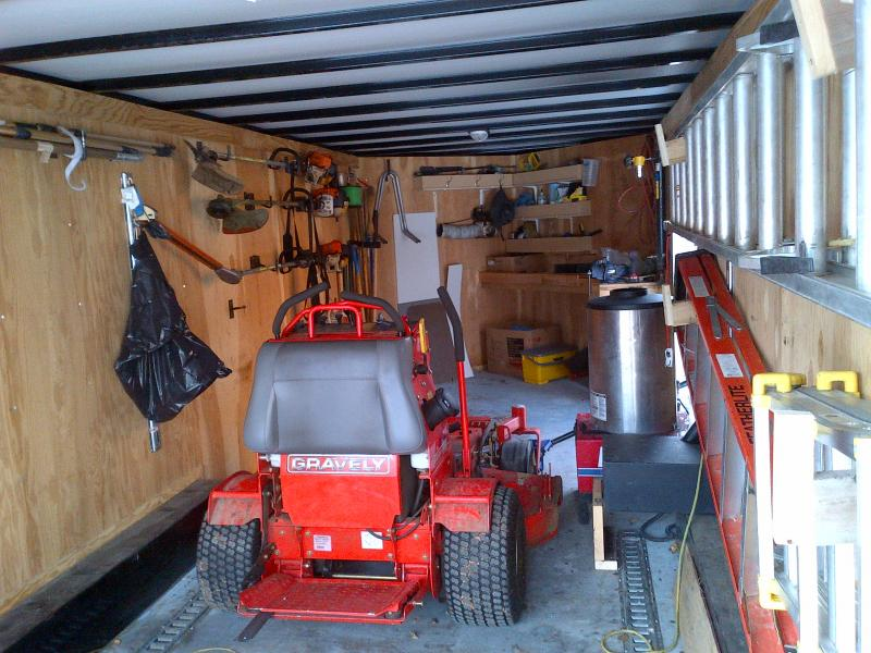 Need Enclosed Trailer Set Up Ideas Lawnsite