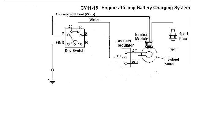 kawi to kohler engine swap problem lawnsite kohler cv15s wiring diagram at alyssarenee.co