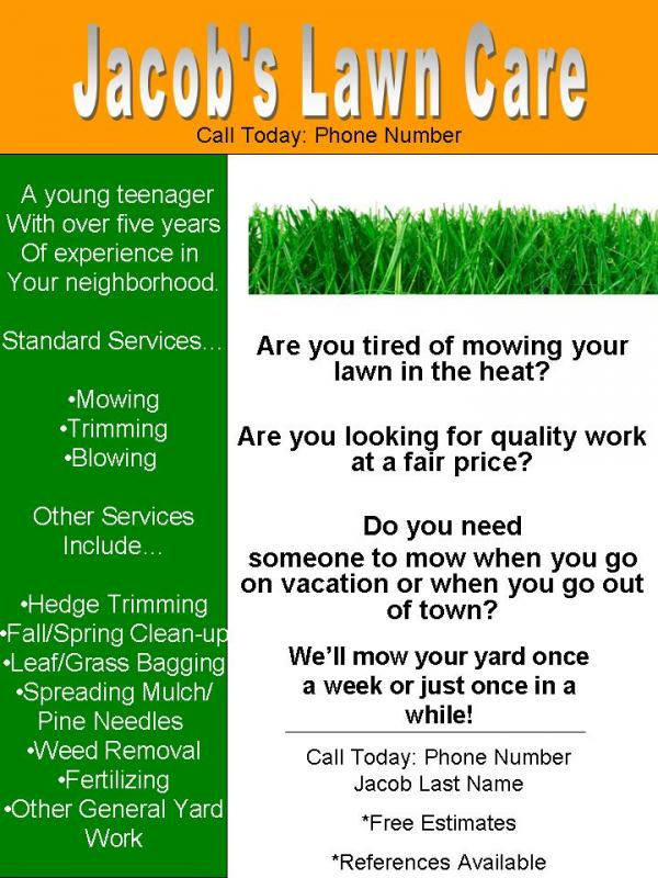 lawn service flyerMy lawn care flyer what do you think  LawnSite Fd3lTUwG