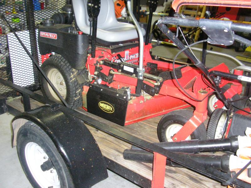 Qwikchute on compact Gravely | LawnSite