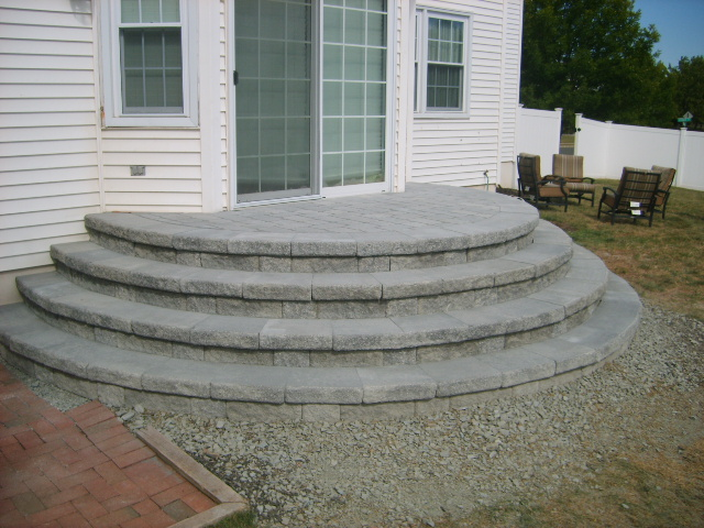Curved Versa Lok Stairs Lawnsite