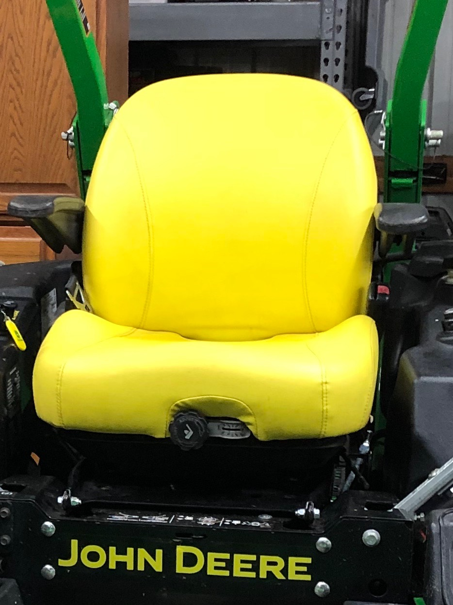 John Deere Black and Yellow Susp seat ride | Page 2 | LawnSite