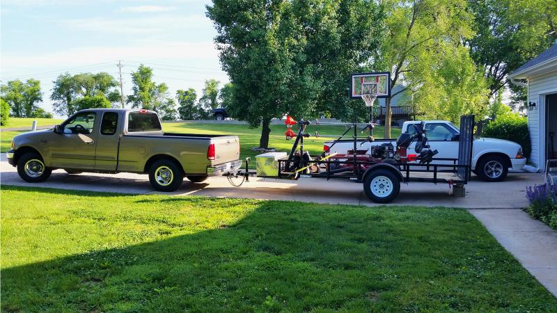 Lawn Care Trailer Setup For Sale