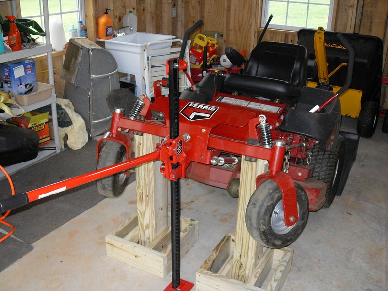 Garden Tractor Work Stand : Home made jack stands for ztr lawnsite
